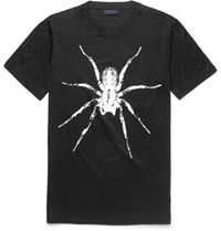 Lanvin Spider Print Cotton Jersey T Shirt Black