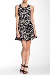 Dex Front Zip Fit And Flare Dress Multi