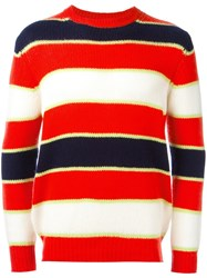 Ermanno Scervino Striped Jumper Yellow Orange