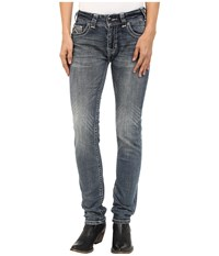 Rock And Roll Cowgirl Mid Rise Skinny In Medium Wash W1s5622 Medium Wash Women's Jeans Navy