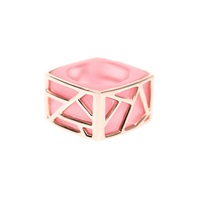 Ona Chan Square Cocktail Ring Pink Pink Purple