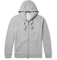 Frame Loopback Cotton Jersey Zip Up Hoodie Gray