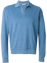 Melindagloss Terryclotch Polo Sweater Blue