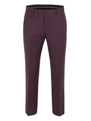 Alexandre Of England Twill Suit Trousers Red