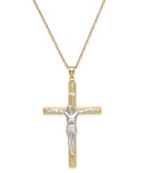 Macy's Men's Crucifix Pendant In 10K Gold