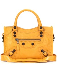 Balenciaga Giant 12 Mini City Leather Tote Yellow