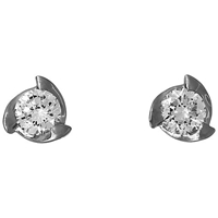 Jools By Jenny Brown 3 Fan Shape Frame Cubic Zirconia Stud Earrings
