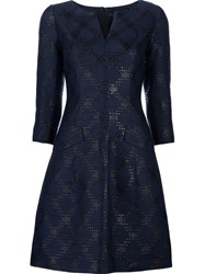 Yigal Azrouel 'Diamond Plaid' Dress Blue