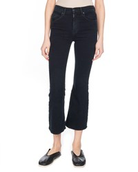 Proenza Schouler Pswl Flared Cropped Jeans Black