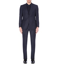 Richard James Basket Weave Wool Suit Navy