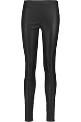 Iris And Ink Leigh Stretch Leather Leggings Black