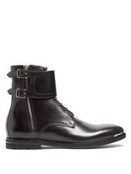 Alexander Mcqueen Monk Strap Ankle Boots Black