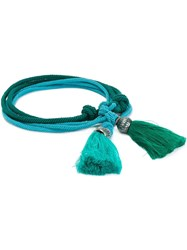 Lanvin Tassel Belt Blue