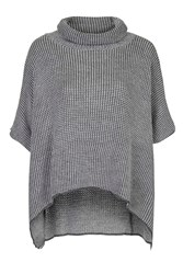Turtle Neck Poncho By Wal G Grey