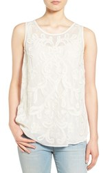 Lucky Brand Women's Embellished Sleeveless Shell