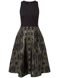 Ted Baker Flamie Jacquard Ballerina Dress Black