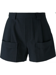 Band Of Outsiders Side Zip Shorts Blue
