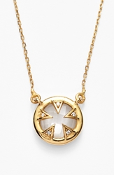 Melinda Maria 'Tessa' Small Pendant Necklace Gold Clear