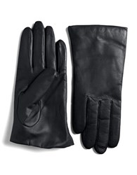 Lord And Taylor Cashmere Lined Leather Gloves Storm
