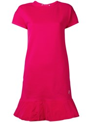 Moncler Flared Hem T Shirt Dress Pink Purple