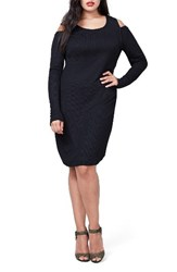 Rachel Roy Plus Size Women's Cold Shoulder Rib Knit Dress