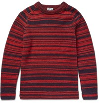 Acne Studios Kees Striped Wool Sweater Red
