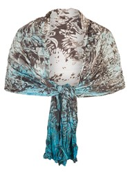 Chesca Printed Ombre Crush Pleat Shawl Multi Coloured