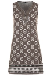 Comma Jersey Dress Braun Brown