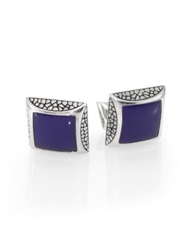 Stephen Webster Heartbreaker Square Cuff Links Black