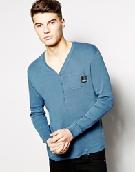 Voi Jeans Long Sleeve T Shirt Blue