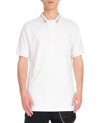 Givenchy Cuban Fit Zipper Collar Polo Shirt White