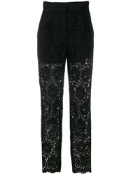 Dolce And Gabbana Floral Lace Suit Trousers 60