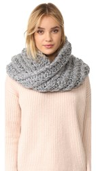 Rebecca Minkoff Hand Knit Cable Neck Warmer Light Heather Gray