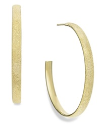 Studio Silver Sparkle Hoop Earrings In 18K Gold Over Sterling Silver Yellow Gold