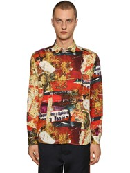 Etro Printed Cotton Shirt Multicolor