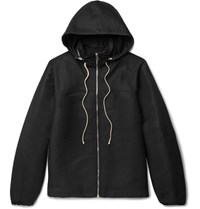 Rick Owens Nippon Shell Windbreaker Bomber Jacket Black
