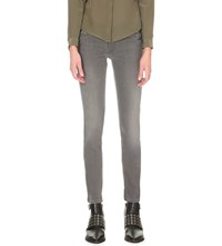 Allsaints Mast Skinny Low Rise Jeans Washed Grey