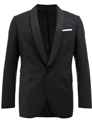 Neil Barrett Suit Jacket Cotton Cupro Viscose Spandex Elastane Black