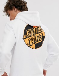 Santa Cruz Crash Dot Hoodie With Back Print In White