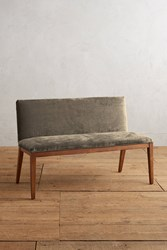 Anthropologie Slub Velvet Emrys Bench Taupe