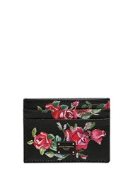 Dolce And Gabbana Floral Printed Leather Card Holder