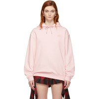 Mcq By Alexander Mcqueen Pink Swallow Badge Classic Hoodie