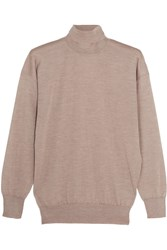 Tom Ford Cashmere And Silk Blend Turtleneck Sweater Beige