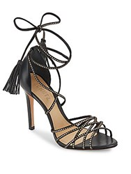 Schutz Dorinha Strappy Lace Up Sandals Black