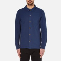 Armor Lux Men's Pique Long Sleeve Shirt Blue