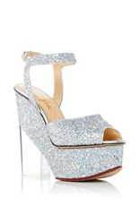 Charlotte Olympia Leandra Platform Sandals Silver