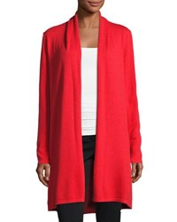 Biana Raquel Long Wool Cashmere Cardigan Red