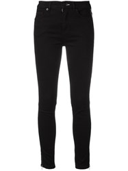 Mcq By Alexander Mcqueen Side Zip Trousers Black
