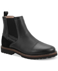 Bass Erving Cap Toe Chelsea Boots Men's Shoes Black