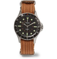 Timex Navi Harbor Stainless Steel And Nylon Webbing Watch Brown